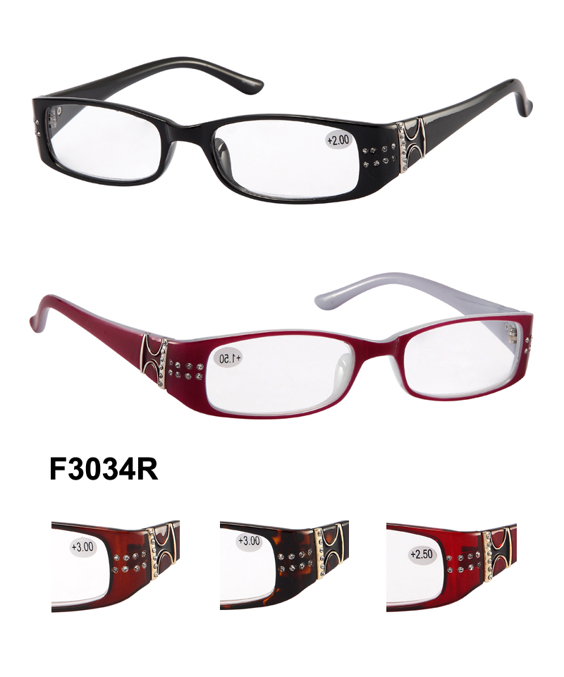How To Read Eyeglass Frame Numbers : F3034R (1 dozen